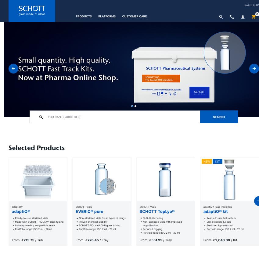 online shop SCHOTT AG