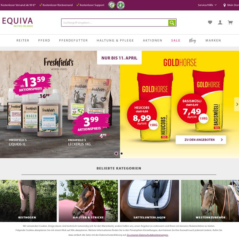 online shop retailer EQUIVA