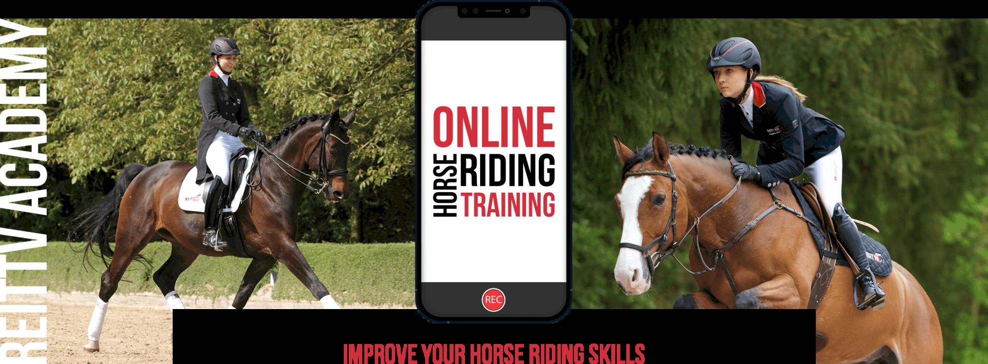 Online horse riding training
